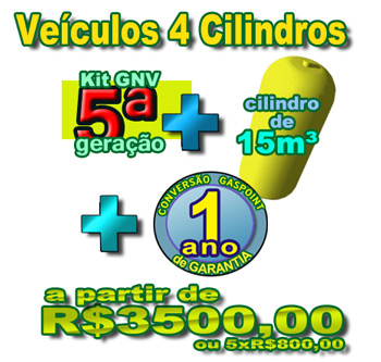 veiculos 4 cilindros GNV