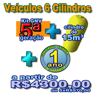 veiculos 6 cilindros GNV